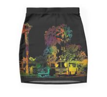 Colorful Abstract Bus Station Mini Skirt