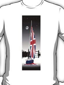 Sail on Brittania. Cruising down The Thames T-Shirt