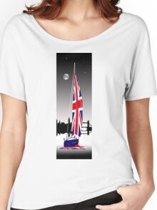 Sail on Brittania. Cruising down The Thames Women's Relaxed Fit T-Shirt