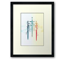Sword Art Duo Framed Print