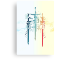 Sword Art Duo Canvas Print