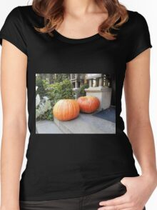 Two Large Pumpkins Women's Fitted Scoop T-Shirt