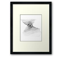 Eye with drawn lines Framed Print