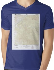 USGS TOPO Map California CA Case Mountain 20120229 TM geo Mens V-Neck T-Shirt
