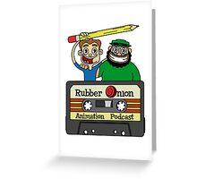 RubberOnion Animation Podcast cassette logo Greeting Card