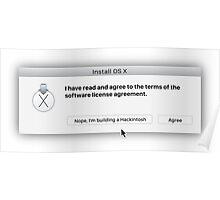 Apple - Hackintosh EULA Dialog Box Poster