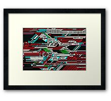 Halo woodcut Framed Print