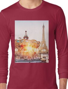 Carousel at the Eiffel Tower Long Sleeve T-Shirt