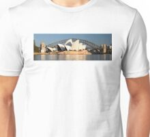 Sydney Opera House & Harbour bridge. Unisex T-Shirt