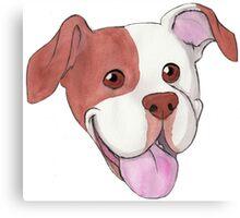 Happy Pit Bull Canvas Print