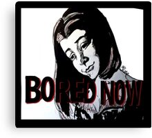 Bored now vampire Willow Canvas Print