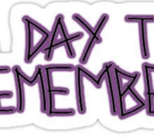 A Day To Remember White Bad Vibrations Sticker
