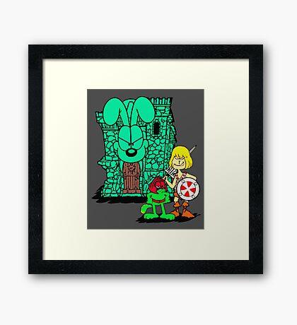He-Jon and Fattle Cat Framed Print