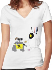 Crossover 9 - CHELL-E Women's Fitted V-Neck T-Shirt