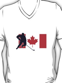 Canada - Canadian National Flag Hockey T-Shirt Top T-Shirt