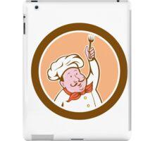 Chef Cook Holding Fork Cartoon iPad Case/Skin