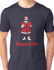 Thug Life - Bad Santa Claus shows obscene sign Unisex T-Shirt