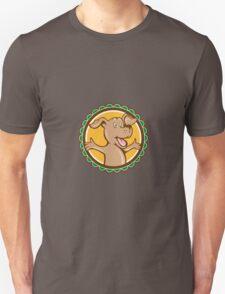 Dog Arms Out Rosette Cartoon Unisex T-Shirt