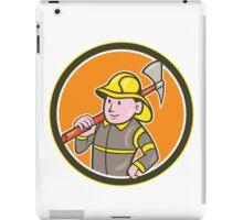 Fireman Firefighter Axe Circle Cartoon iPad Case/Skin