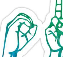 "ASL ""Love"" Watercolour Sticker"