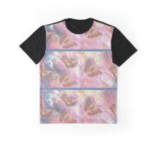 Two-Tone Striped Pastel Monarchs Graphic T-Shirt