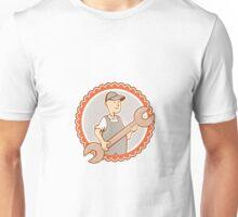 Mechanic Spanner Wrench Rosette Cartoon Unisex T-Shirt