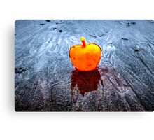 Apple on the Beach Canvas Print