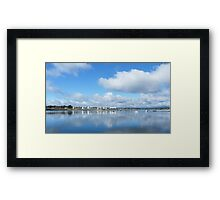 York Cove Panarama Framed Print