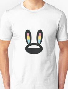 Pogo Space Bunny Black Unisex T-Shirt