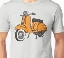 Vespa Illustration - Orange Unisex T-Shirt