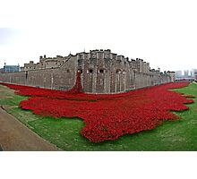 The Tower of London Remembers WWI Photographic Print
