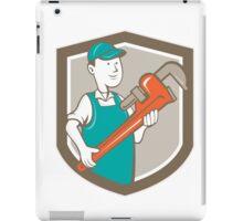 Plumber Monkey Wrench Shield Cartoon iPad Case/Skin