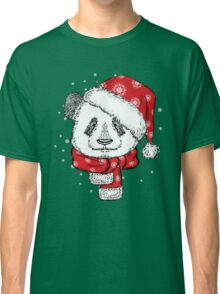 Panda Christmas with hat and scarf Classic T-Shirt