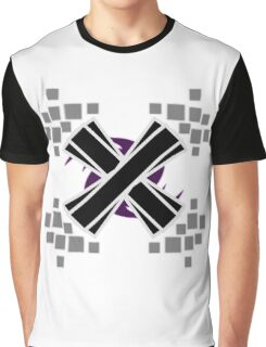 Emphasized Black 'X' Graphic T-Shirt