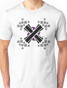 Emphasized Black 'X' Unisex T-Shirt