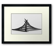 Pencil Tower Framed Print