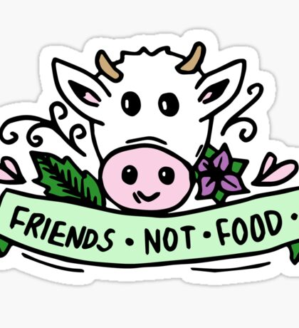 Vegan Friends Not Food Tumblr  Sticker