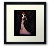 Vintage Couture series - Fashion Ilustration Lilah Framed Print