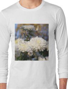 Fluffy flurries of white Chrysanthemum flowers Long Sleeve T-Shirt