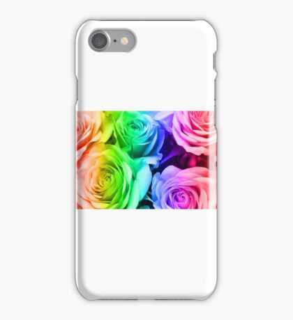 Digital background in roses iPhone Case/Skin
