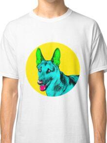 Yellow Bubble German Shepherd Pop Art Classic T-Shirt