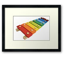 Baby Xylophone Framed Print