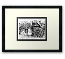 Old derelict shed Framed Print