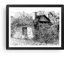Old derelict shed Canvas Print