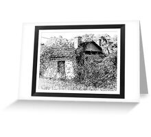 Old derelict shed Greeting Card