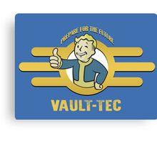 Fallout 4 - Vault Tec Design Canvas Print