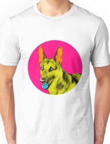 Pink Bubble German Shepherd Pop Art Unisex T-Shirt