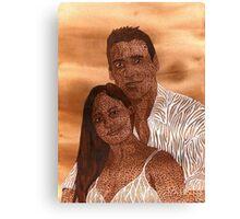 lovers on mars Canvas Print