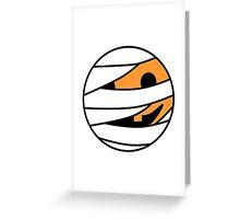 Pumpkin Mummy Face Greeting Card