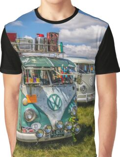 VW vintage buses.  Graphic T-Shirt